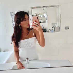 Ruffled Cami Mini Dress White
